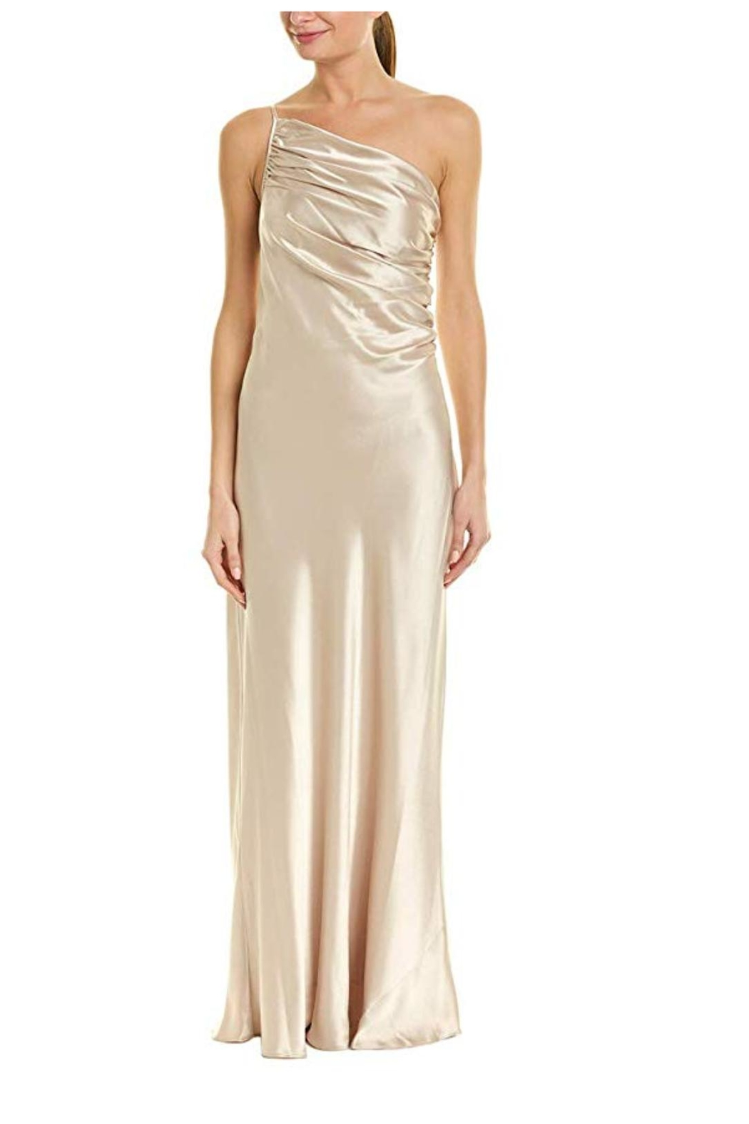Issue New York Satin Beige Gown - Main Image