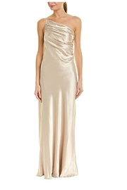Issue New York Satin Beige Gown - Product Mini Image