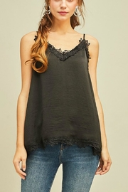 Entro Satin-Black Camisole Top - Product Mini Image