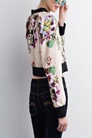 Chloah Satin Bomber - Front cropped