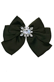 L'Imagine Satin Bow Brooch - Front cropped