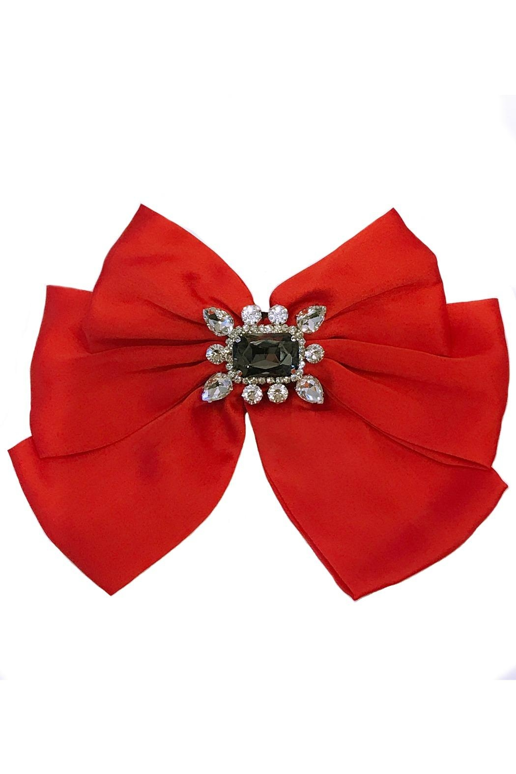 L'Imagine Satin Bow Brooch - Front Cropped Image