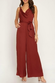 She + Sky Satin Cami Jumpsuit - Product Mini Image