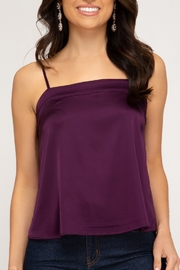 She + Sky Satin Cami Top - Product Mini Image
