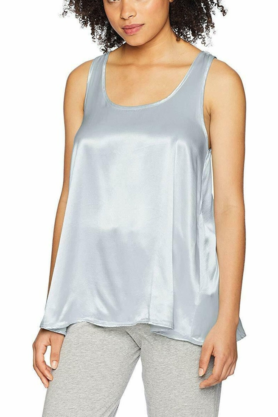 PJHARLOW Satin Cami With Pleated Back - Main Image