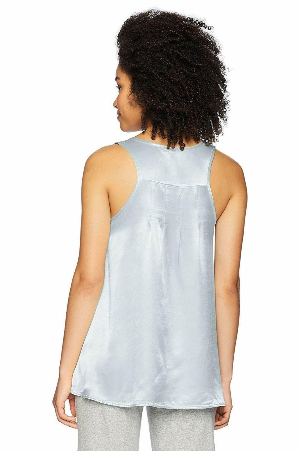 PJHARLOW Satin Cami With Pleated Back - Front Full Image