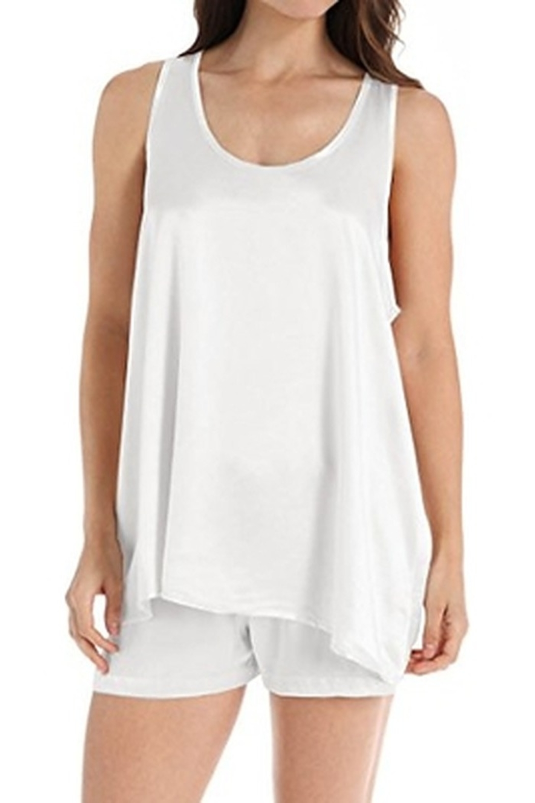 PJHARLOW Satin Cami With Pleated Back - Front Cropped Image
