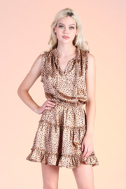 Tyche Satin Cheetah Dress - Product Mini Image