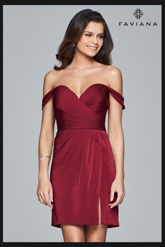 Faviana Satin Cocktail Dress - Product List Image