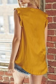 Mustard Seed  Satin Flutter Sleeve Top - Side cropped