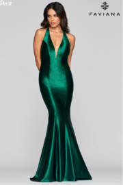 Faviana Satin Halter Gown - Product Mini Image