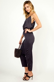 Olivaceous Satin Jumpsuit - Front full body