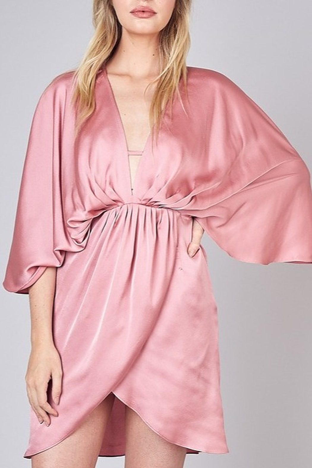 Do & Be Satin Kimono Dress - Main Image