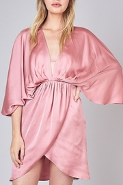 Do & Be Satin Kimono Dress - Front cropped