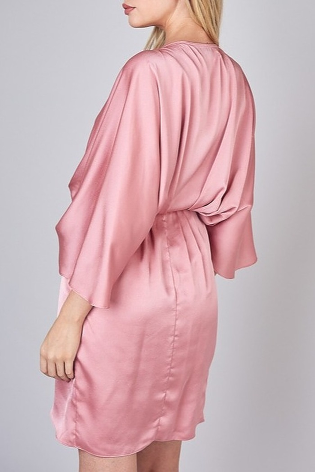 Do & Be Satin Kimono Dress - Side Cropped Image