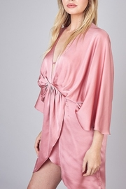Do & Be Satin Kimono Dress - Front full body