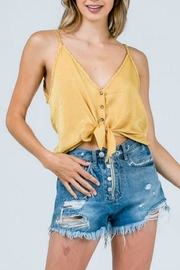 Cozy Casual Satin Knot Crop - Product Mini Image