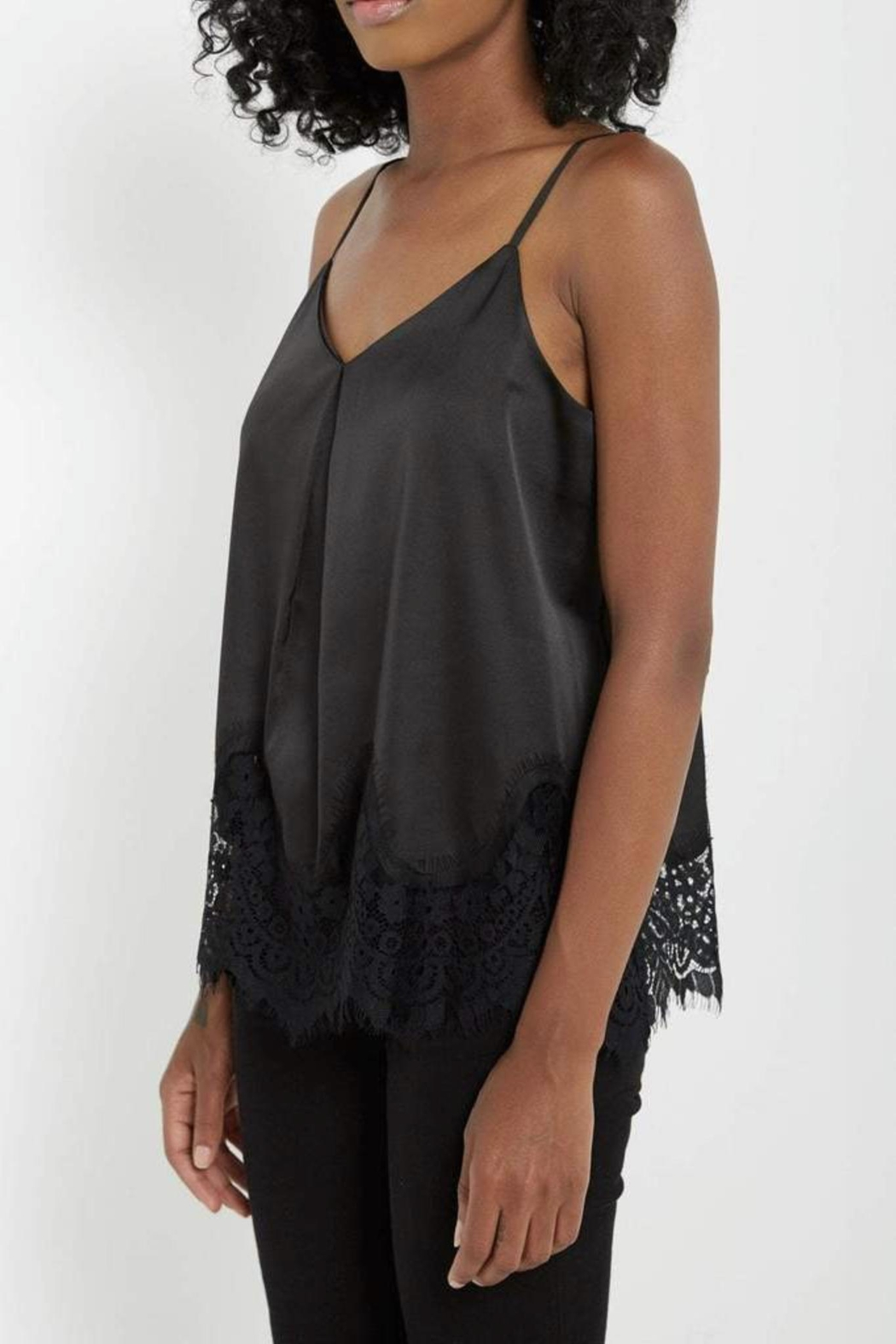 Soprano Satin Lace Camisole - Side Cropped Image