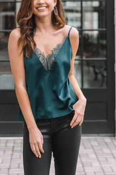 Gentle Fawn Satin Lace Inset Cami - Product List Image