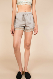 POL Satin Laced Hem short - Product Mini Image