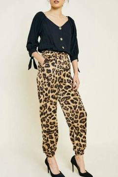 Hayden Los Angeles Satin Leopard Jogger - Alternate List Image
