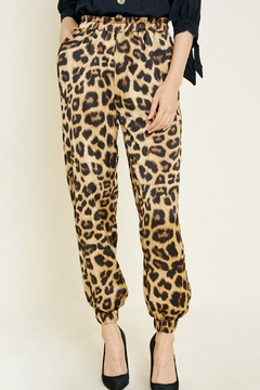 Hayden Los Angeles Satin Leopard Jogger - Product List Image