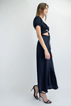 EDIT BY NINE Satin Long Dress With Cut Outs - Alternate List Image