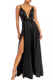 luxxel Satin Maxi Dress - Front cropped