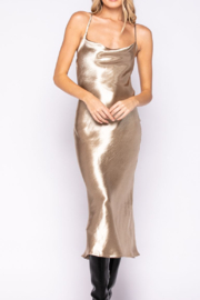 Skylar & Madison Satin Metallic Low Back Dress - Product Mini Image