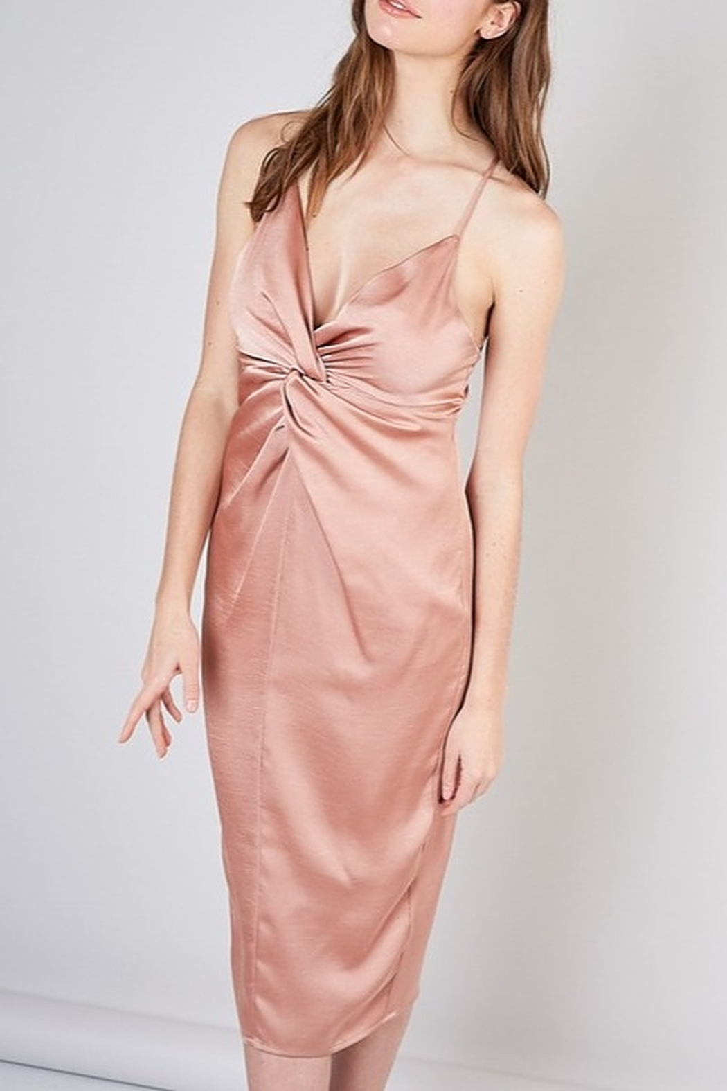 Do & Be Satin Midi Dress - Front Cropped Image