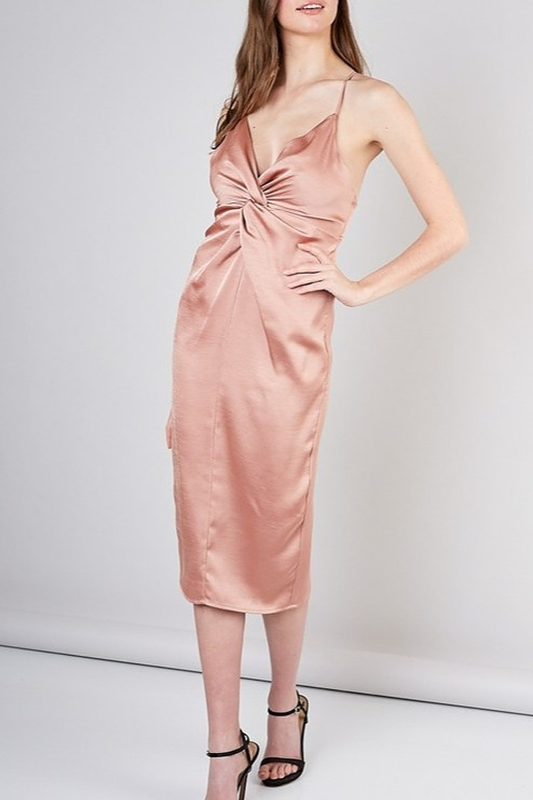 Do & Be Satin Midi Dress - Side Cropped Image
