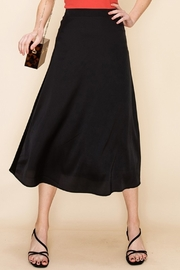 Double Zero Satin Midi Skirt - Front cropped