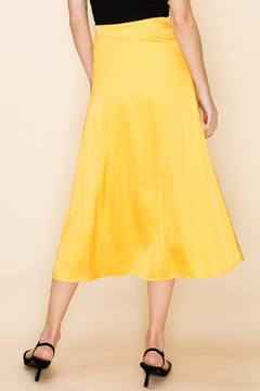 Double Zero Satin Midi Skirt - Alternate List Image