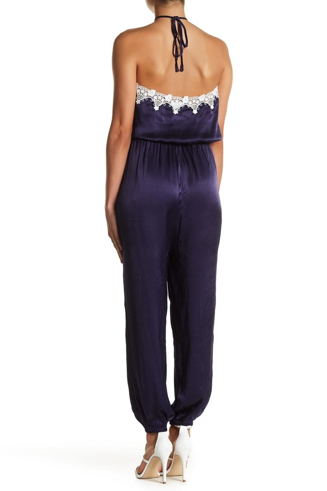 Sugarlips Satin-n-Lace Jumpsuit - Front Full Image