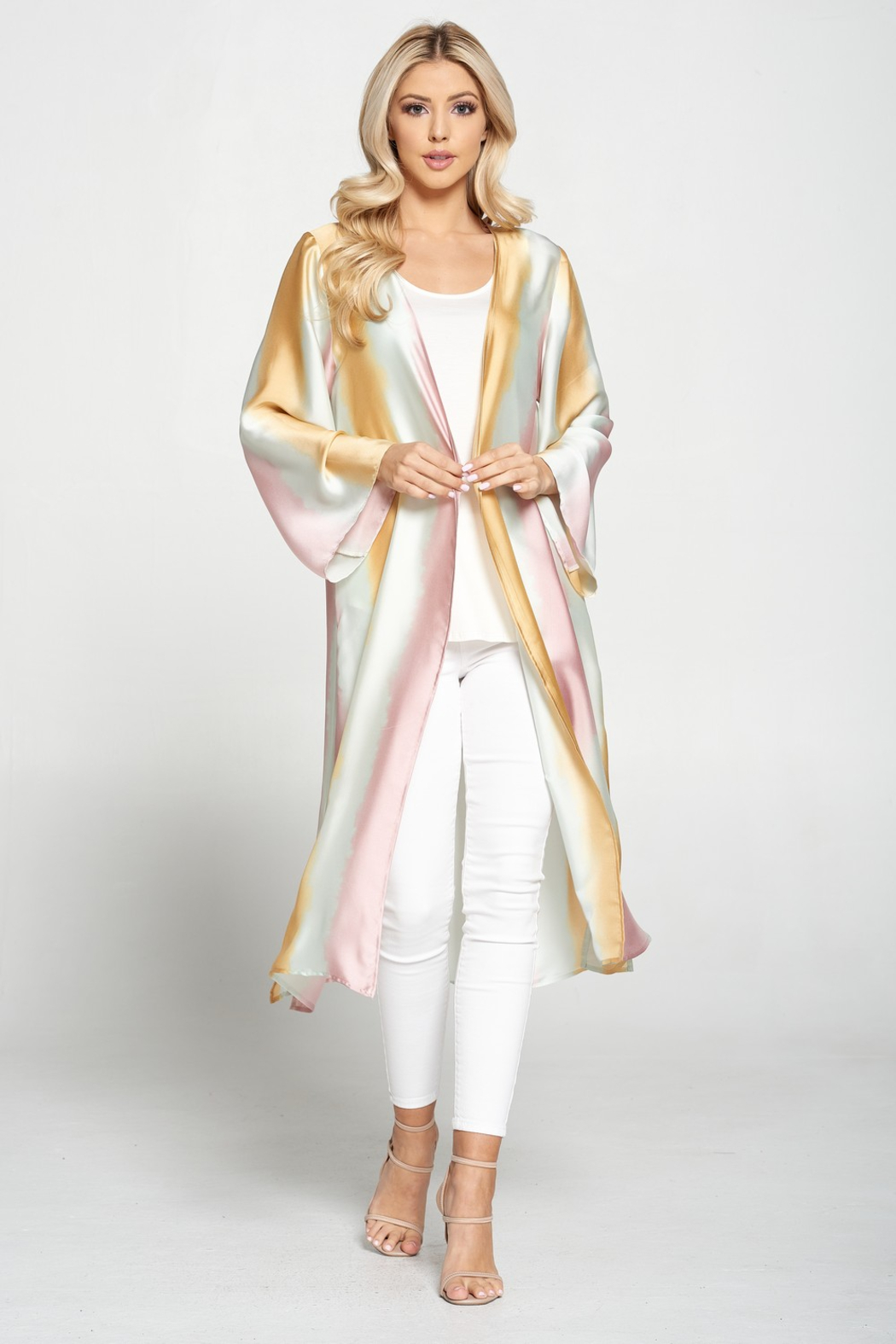 Adrienne Satin Ombre Duster - Main Image