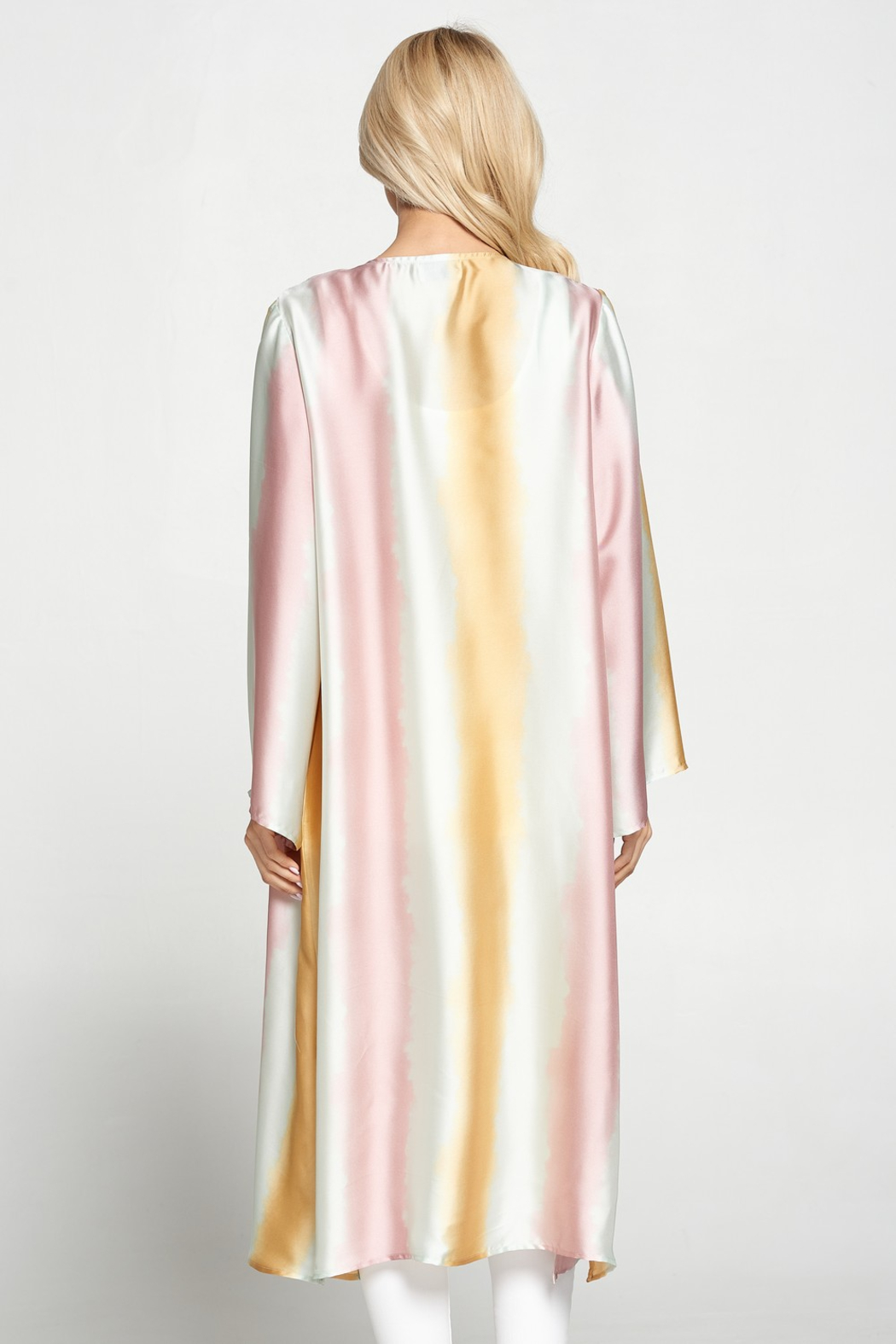 Adrienne Satin Ombre Duster - Front Full Image
