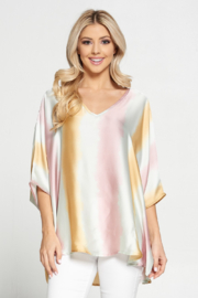 Adrienne Satin Ombre Oversized Top - Product Mini Image