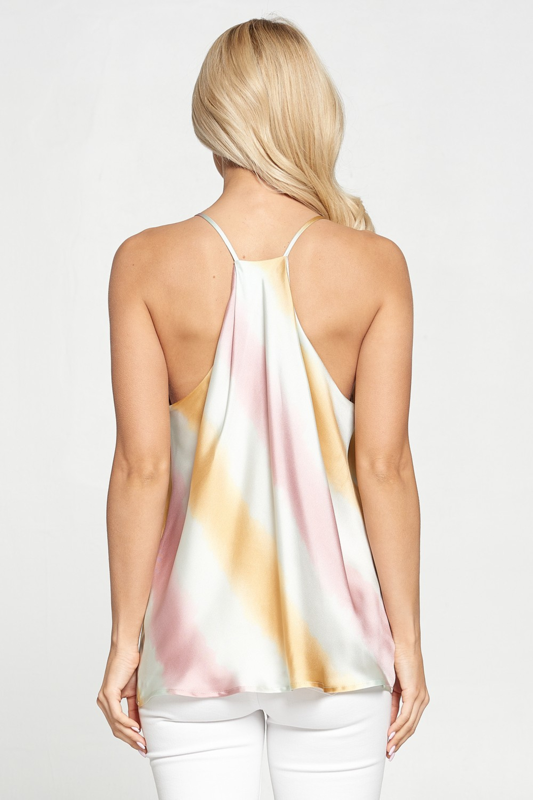 Adrienne Satin Ombre Tank - Front Full Image