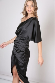 Do & Be Satin One Shoulder Dress - Side cropped