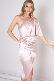Do & Be Satin One Shoulder Dress - Front cropped