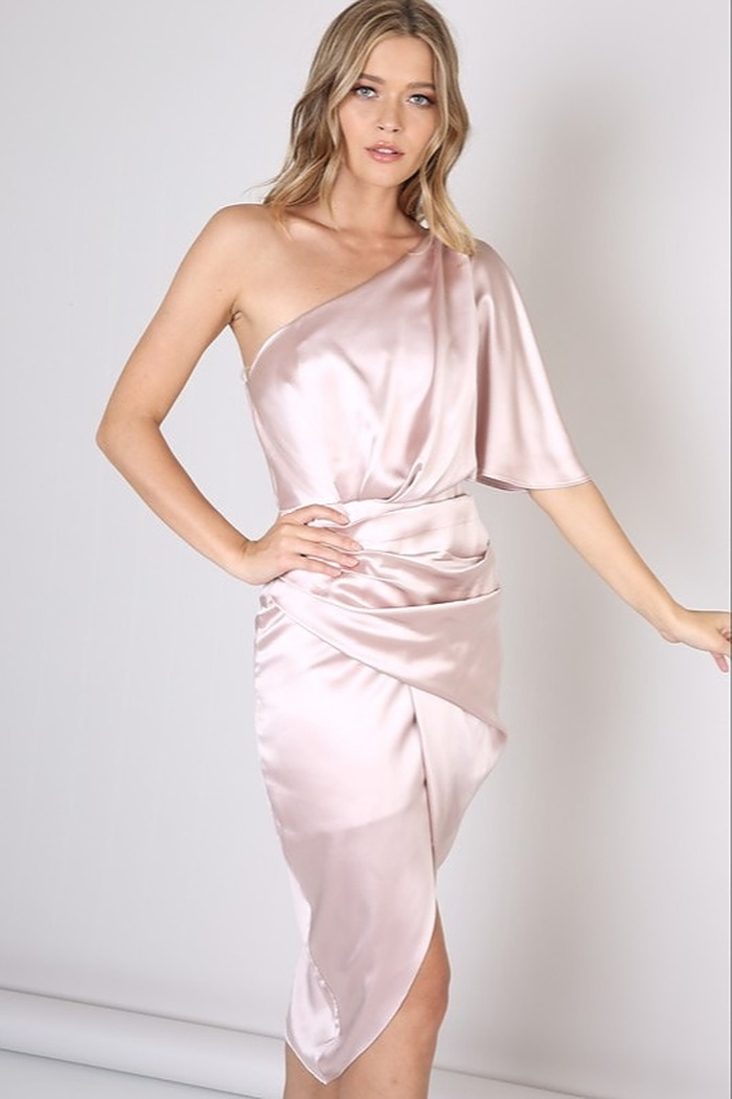 Do & Be Satin One Shoulder Dress - Main Image