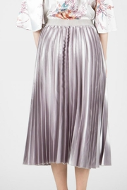 BEULAH STYLE Satin Pleated Skirt - Front full body