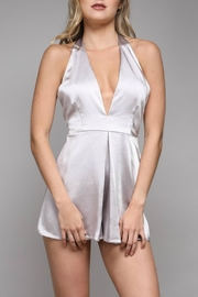 Do & Be Satin Plunge Romper - Product Mini Image