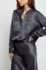 Rails Clothing Satin Popover Blouse - Back cropped
