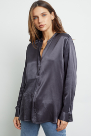 Rails Clothing Satin Popover Blouse - Front cropped