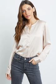 Rails Clothing Satin Popover Blouse - Other