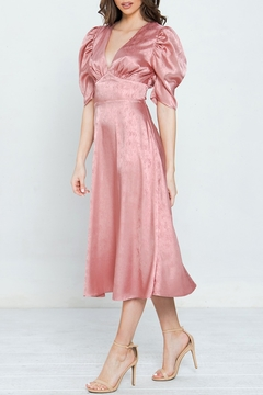 a.calin Satin Puff Sleeve Dress - Alternate List Image
