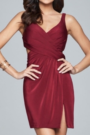 Faviana Satin Rouched Dress - Front cropped
