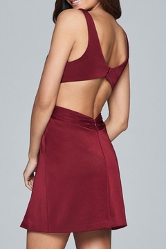 Faviana Satin Rouched Dress - Alternate List Image