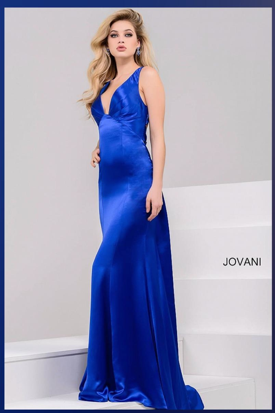 d084b95bb6f Jovani PROM Satin Royal Gown from Guilford by A s Unique Boutique ...